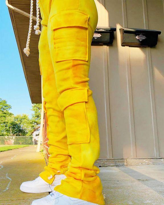 Flap Pocket Split Hem Rope Detail Cargo Pants gallery 2