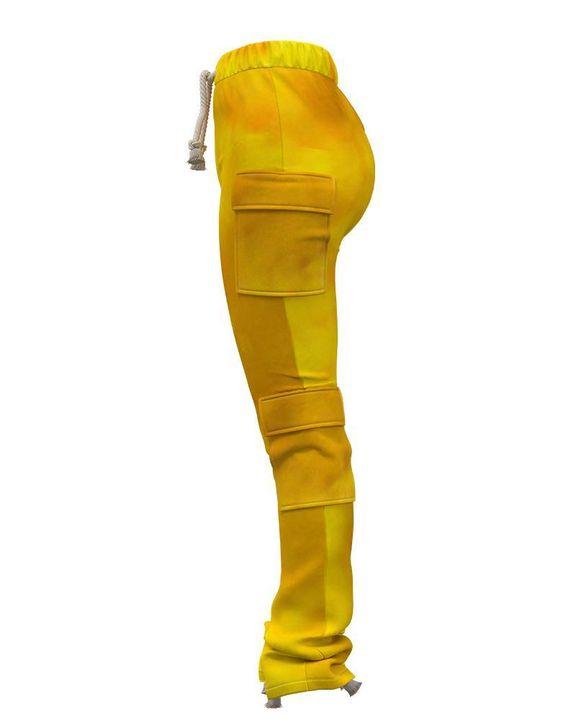 Flap Pocket Split Hem Rope Detail Cargo Pants gallery 4