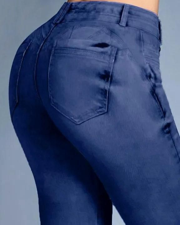 Button Front Butt Lifting Flare Jeans gallery 12