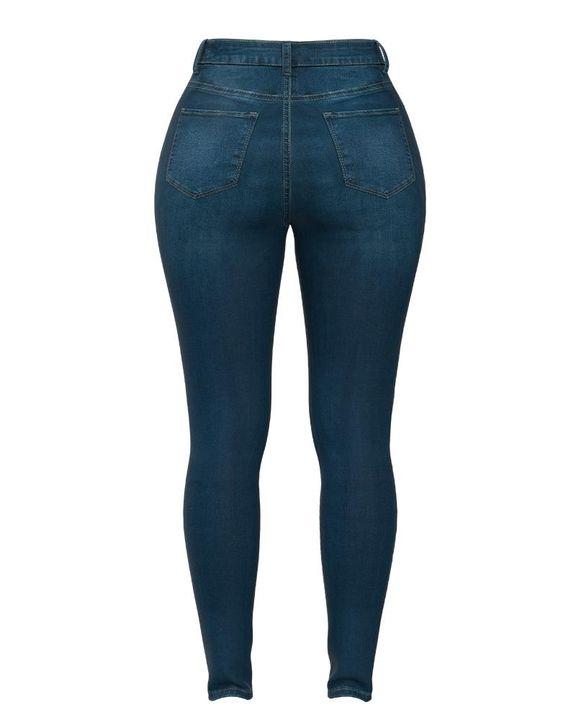 Elastic High Waist Butt Lifting Jeans gallery 13