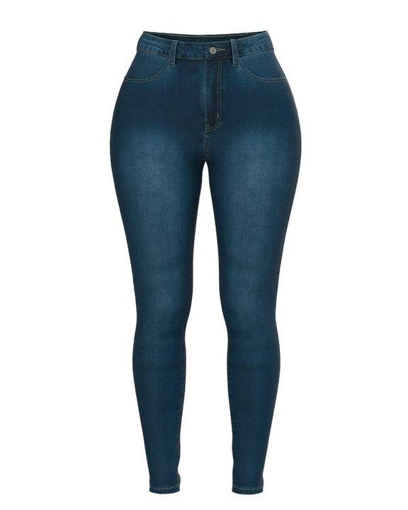 Elastic High Waist Butt Lifting Jeans gallery 11
