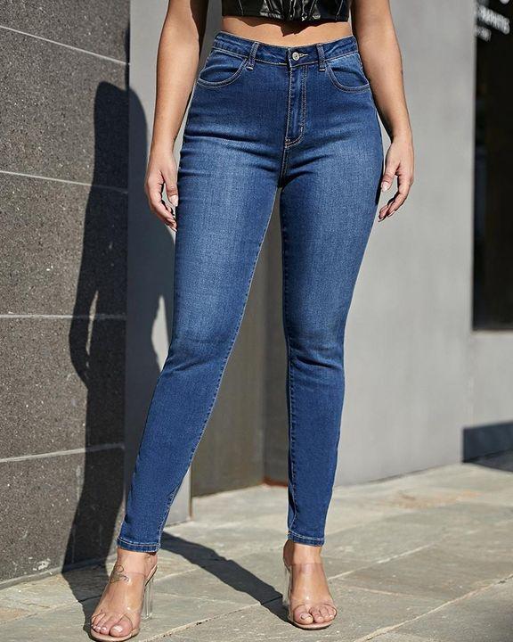 Elastic High Waist Butt Lifting Jeans gallery 2