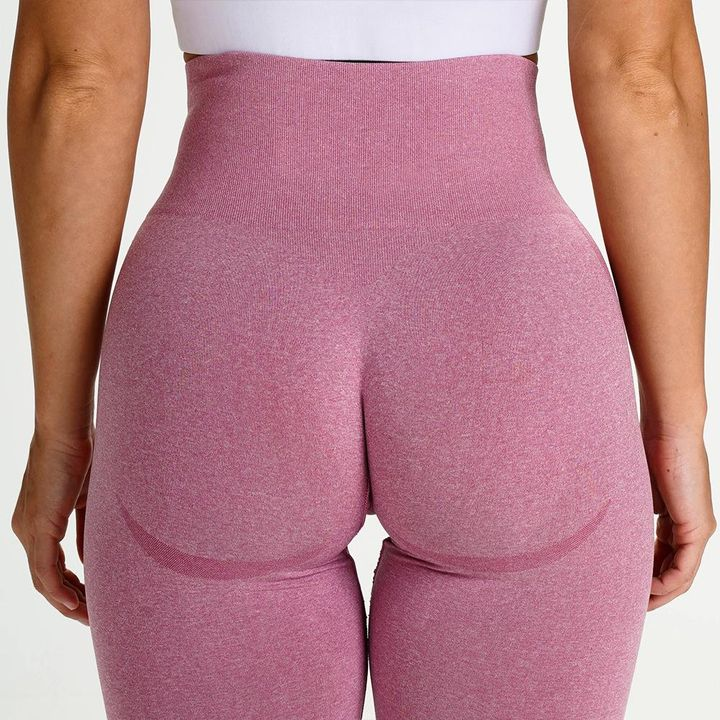 High Waist Butt Lifting Breathable Seamless Workout Leggings gallery 8