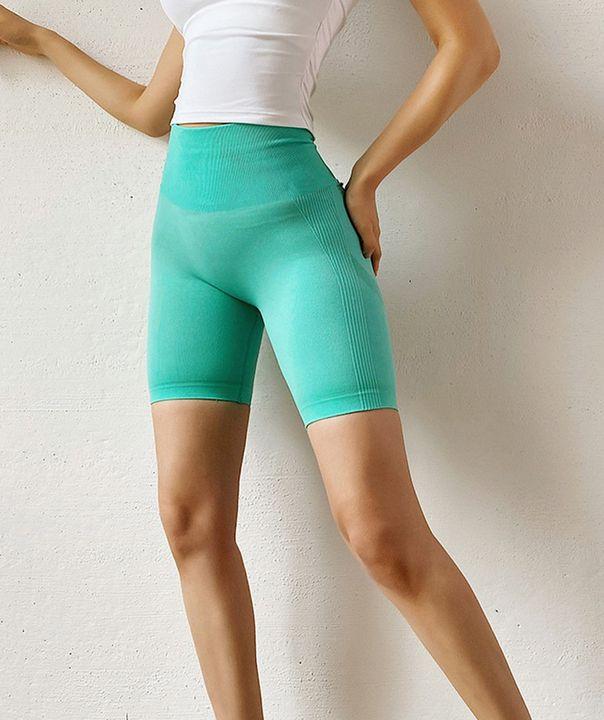 High Waist Beauty Contour Skinny Sports Shorts gallery 7