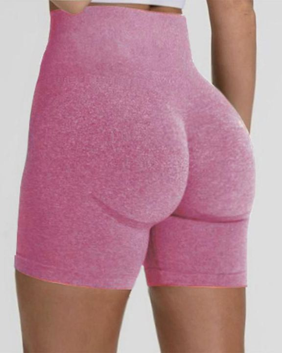 Beauty Contour Wide Waistband Sports Shorts gallery 9