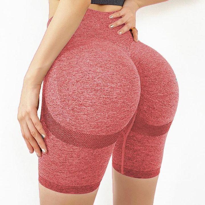 High Waist Beauty Contour Skinny Sports Shorts gallery 6