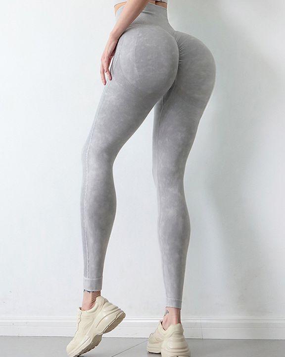 Tie Dye Scrunch Butt Wide Waistband Sports Leggings  gallery 22