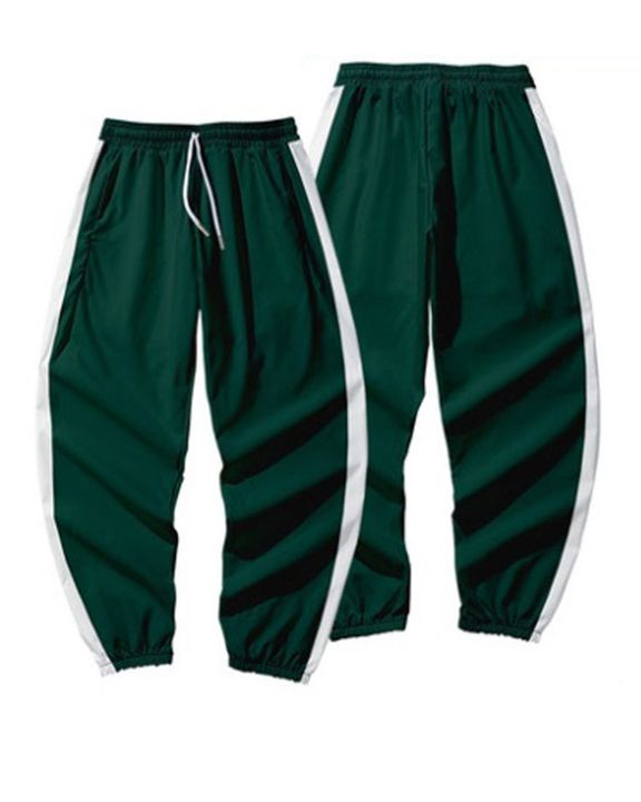 Contrast Tape Drawstring Pocket Detail Joggers gallery 2