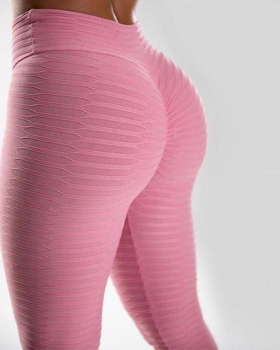 High Waist Textured Butt Lifting Sports Leggins gallery 6