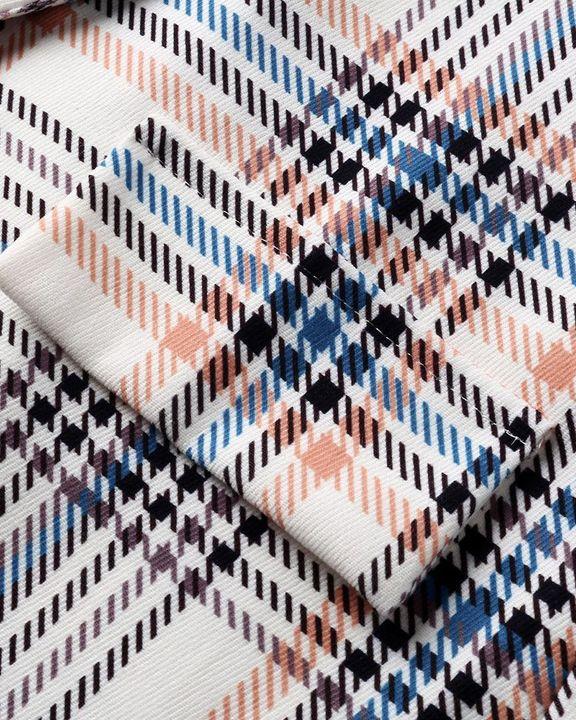 Plaid Print Open Front Shawl Collar Blazer gallery 14