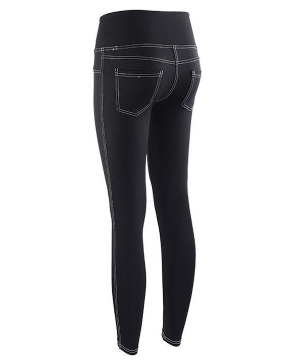 Topstitching Pocket Design High Waist Sports Leggings gallery 9