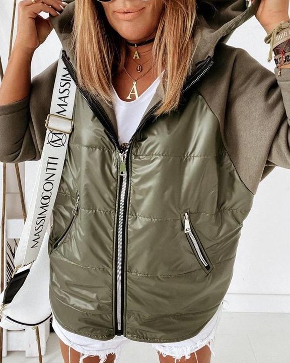 Zip Up Pocket Detail Hooded Jacket gallery 1