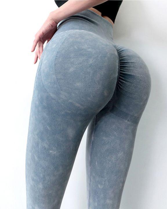 Tie Dye Scrunch Butt Wide Waistband Sports Leggings  gallery 4