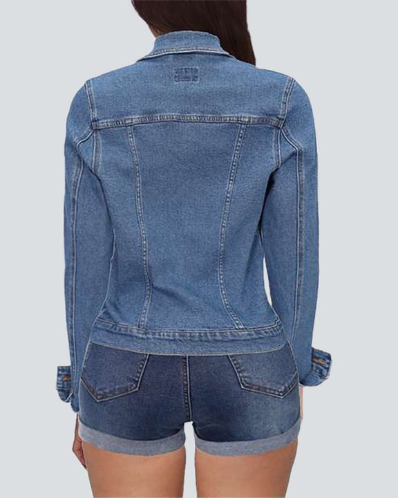 Button Up Flap Pocket Denim Jacket gallery 2
