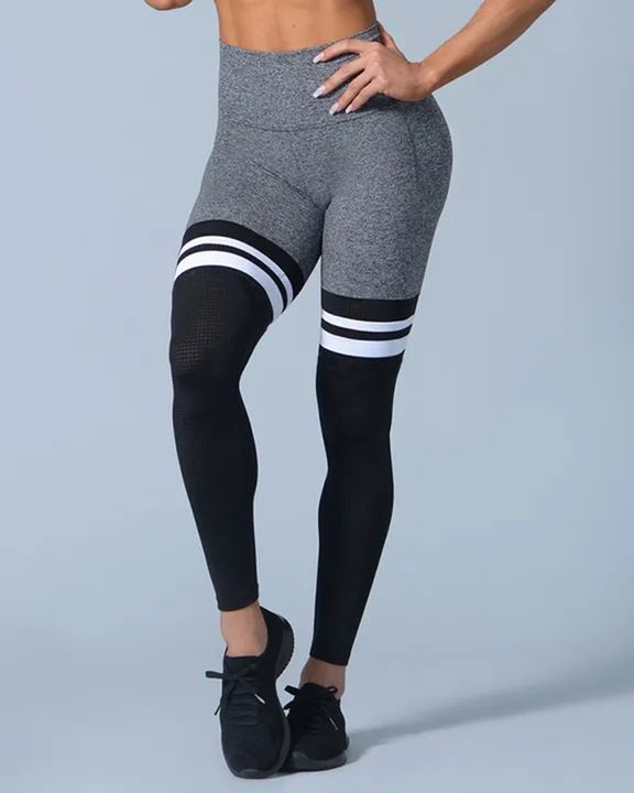 Colorblock Stripe High Waist Sports Leggings gallery 9