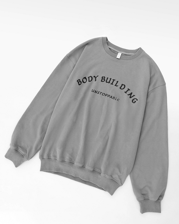 Letter Print Round Neck Long Sleeve Sports Tee gallery 7