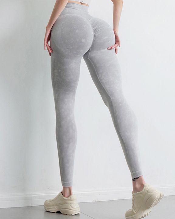 Tie Dye Scrunch Butt Wide Waistband Sports Leggings  gallery 21