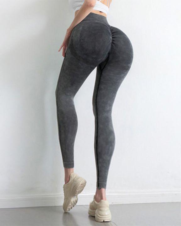 Tie Dye Scrunch Butt Wide Waistband Sports Leggings  gallery 2