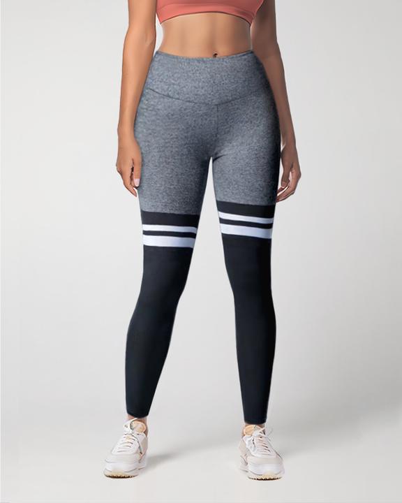 Colorblock Stripe High Waist Sports Leggings gallery 7