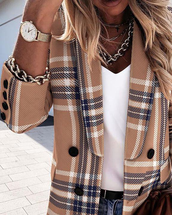 Double Breasted Shawl Collar Blazer gallery 3