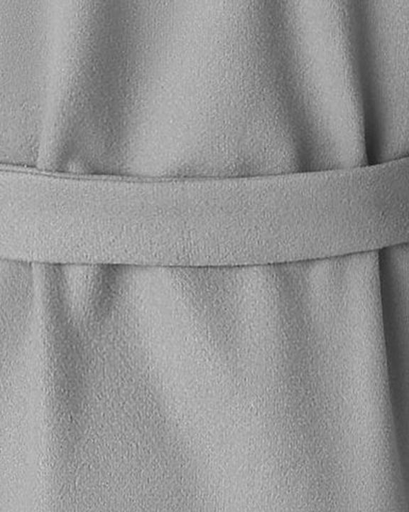 Tie Waist Dual Pocket Lapel Neck Coat gallery 14
