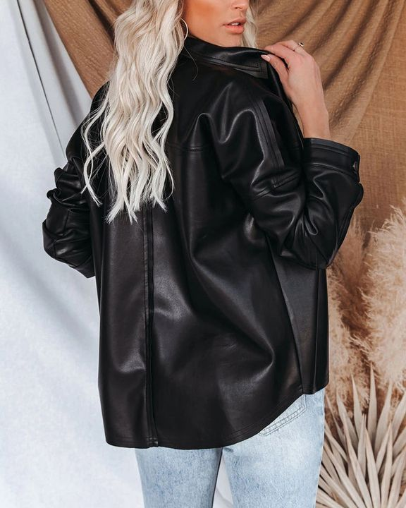 PU Leather Button Up Jacket gallery 11