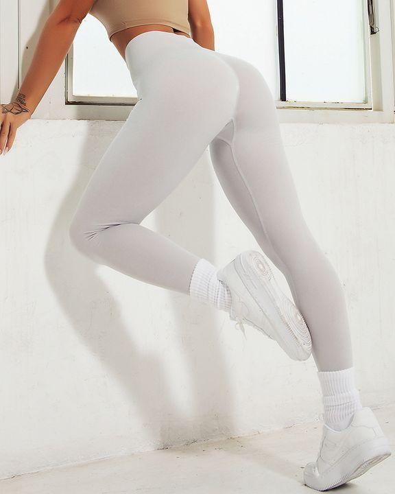 Space Dye Wide Waistband Seamless Sports Leggings gallery 3