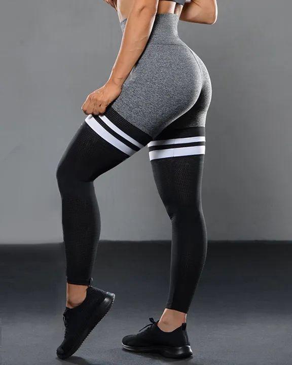 Colorblock Stripe High Waist Sports Leggings gallery 11