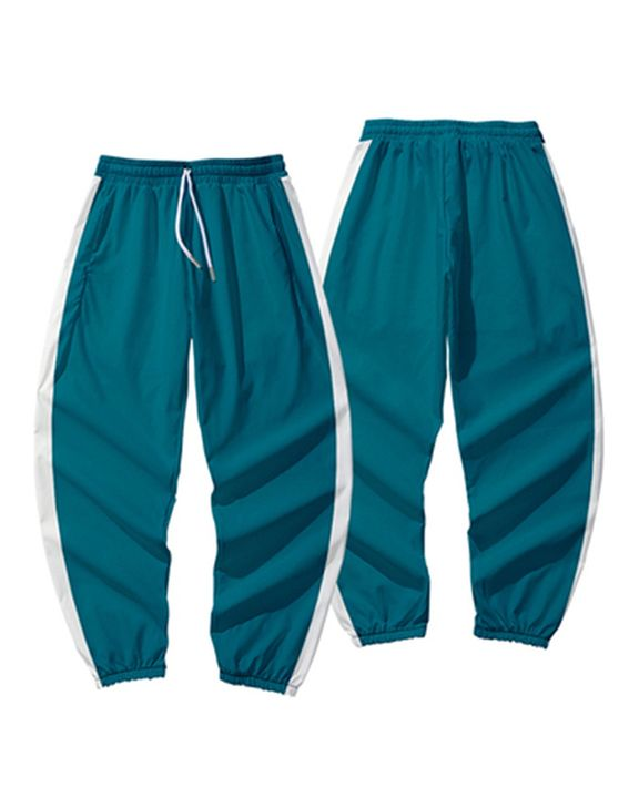 Contrast Tape Drawstring Pocket Detail Joggers gallery 1