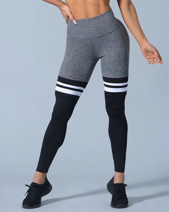 Colorblock Stripe High Waist Sports Leggings gallery 6