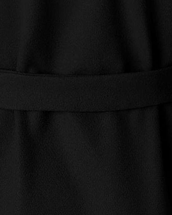 Tie Waist Dual Pocket Lapel Neck Coat gallery 11
