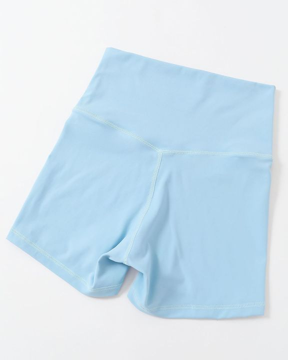Solid Wide Waistband Sports Shorts gallery 6