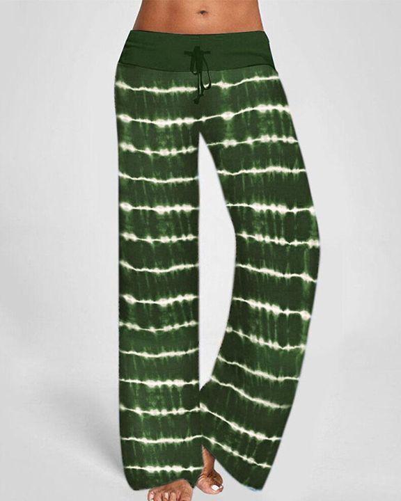 Tie Dye Drawstring Waist Pants gallery 2