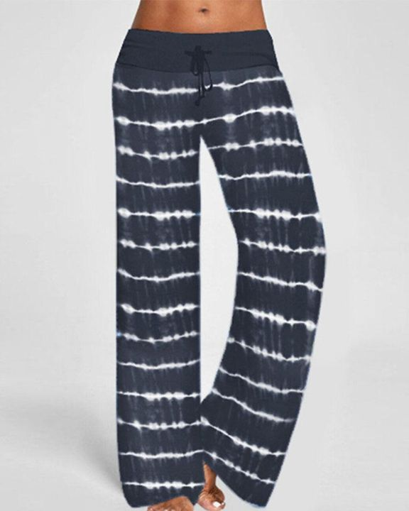 Tie Dye Drawstring Waist Pants gallery 1