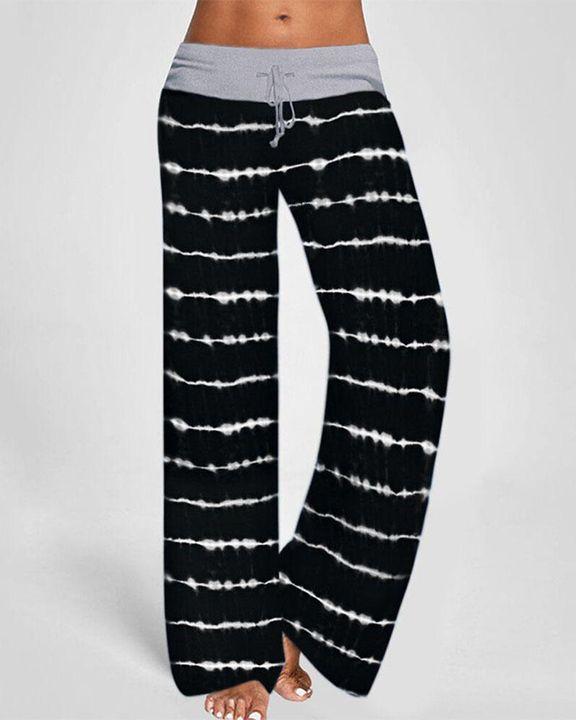 Tie Dye Drawstring Waist Pants gallery 3