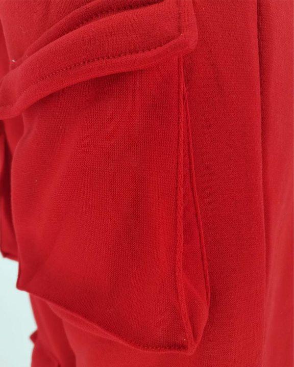 Solid Pocket Detail Drawstring Waist Pants gallery 7