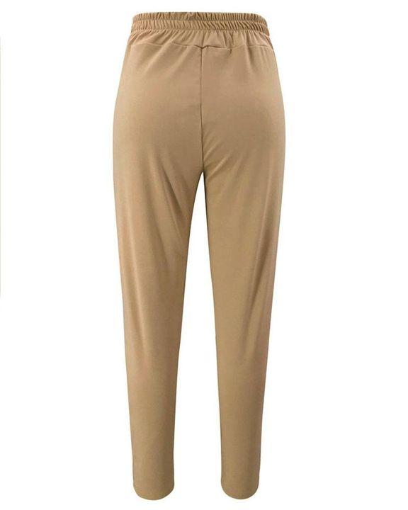 Solid Eyelet Blet Tie Crop Pants gallery 7