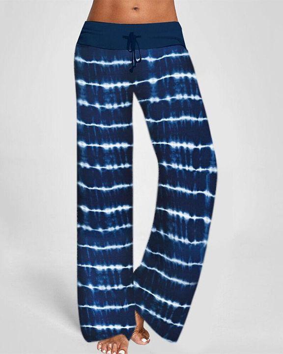 Tie Dye Drawstring Waist Pants gallery 4