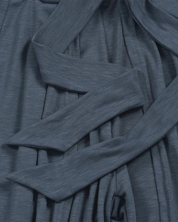 Solid Tie Front Split Hem Wide Leg Pants gallery 7