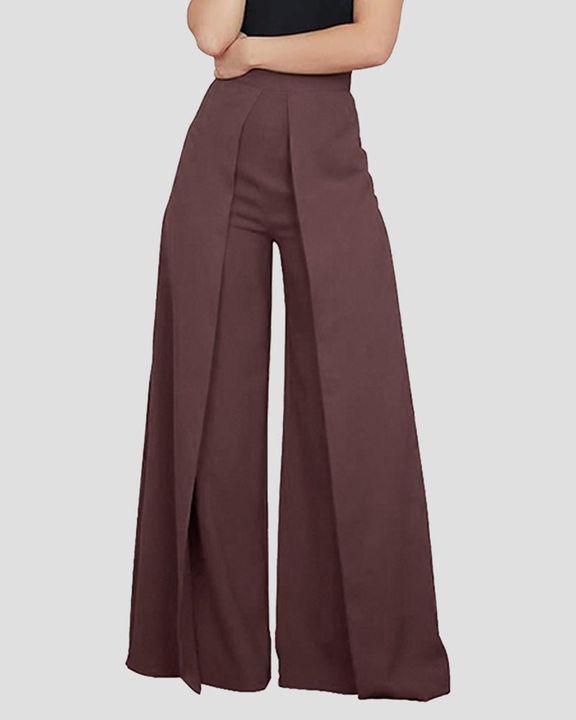 High Waist Pleated Wide Leg Pants  gallery 4