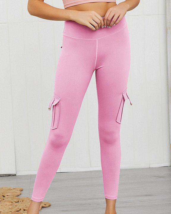 Flap Pocket Butt Lifting Top Stitching Sports Leggings gallery 8