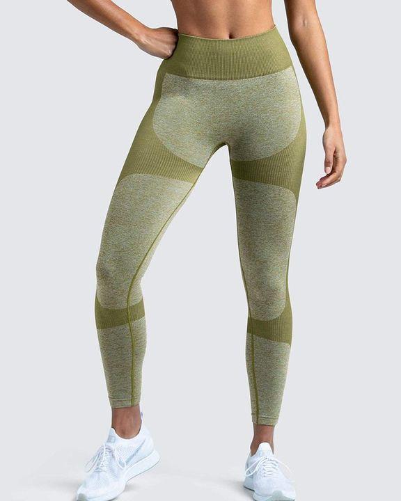 Space Dye Butt Lifting Seamless Absorbs Sweat Sports Leggings gallery 7