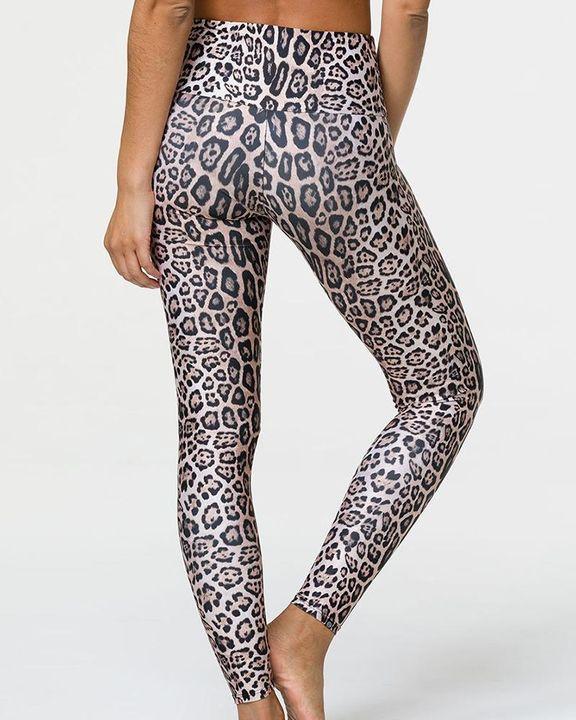 Tie Dye & Leopard Print High Waist Sports Leggings gallery 7