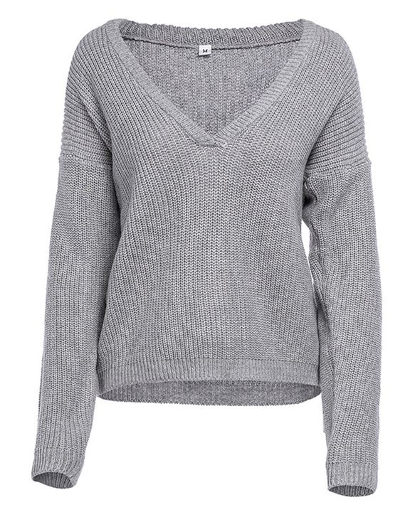 Chunky Knit Drop Shoulder Sweater gallery 8