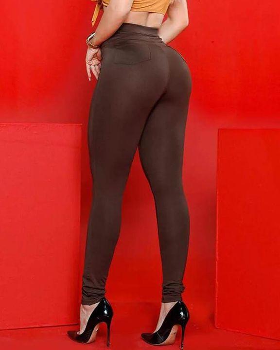 Half Zip Ruched Butt Lifting High Waist Pants gallery 6