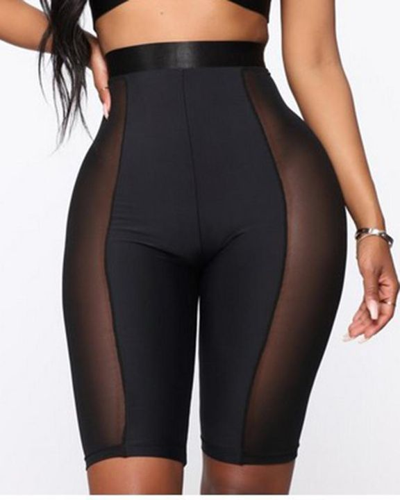 Solid Contrast Mesh Sports Shorts gallery 4
