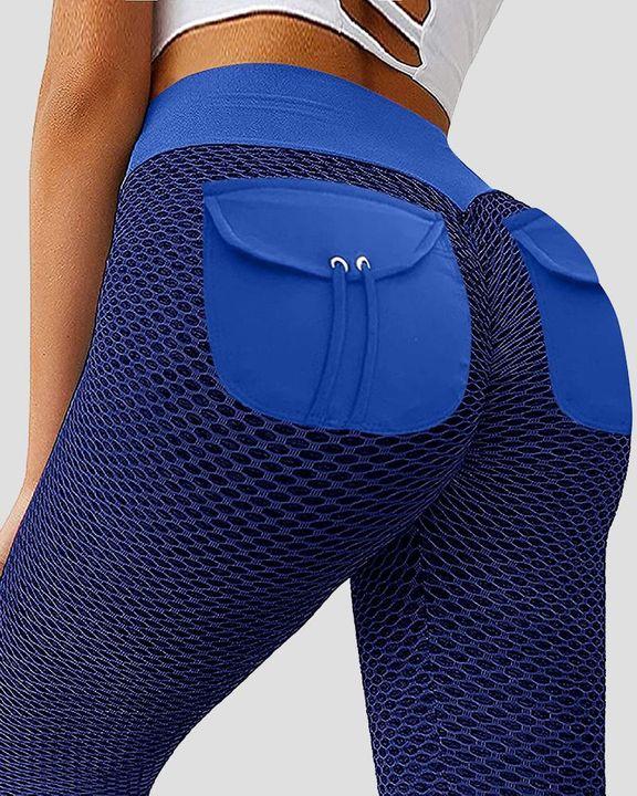 Textured Pocket Detail Butt Lifting Sports Leggings gallery 11