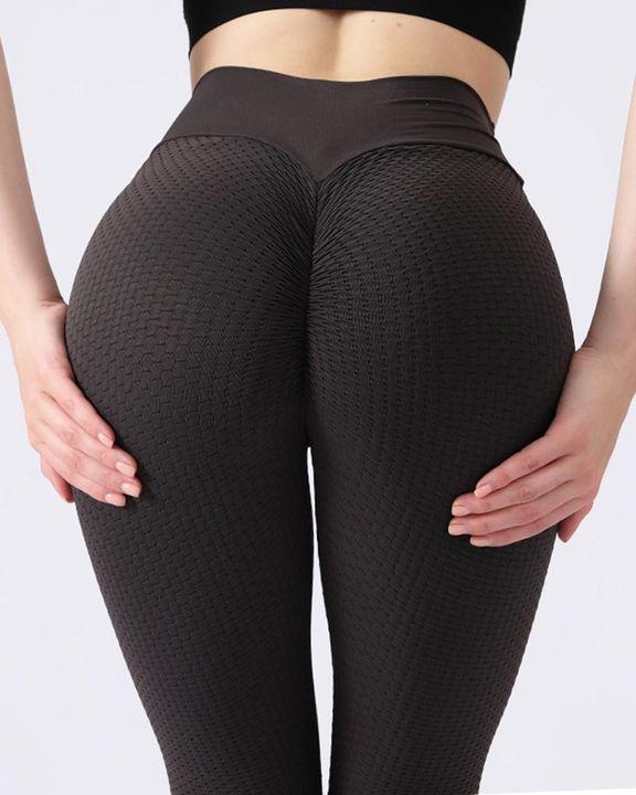 Textured Seamless Butt Lifting High Waist Sports Leggings gallery 15