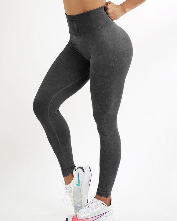 Tie Dye Seamless Scrunch Butt Sports Leggings gallery 2
