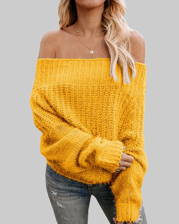 Chunky Knit Off Shoulder Sweater gallery 1
